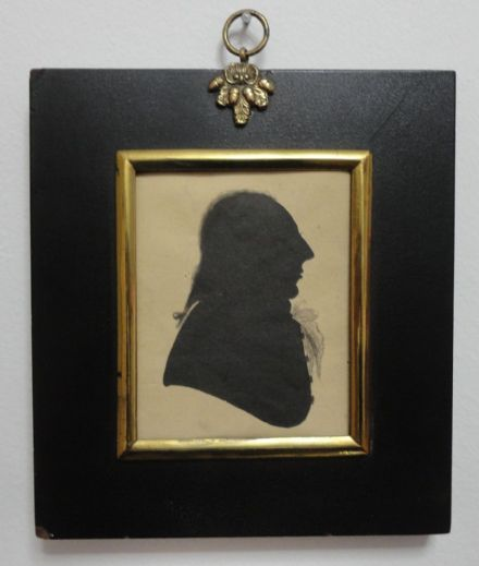Antique 18th Century Silhouette Portrait of Richard Jones of Llanerchrugog Hall